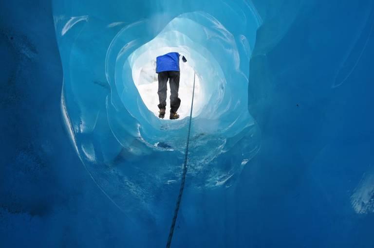 Hiken in de Franz Josef gletsjer