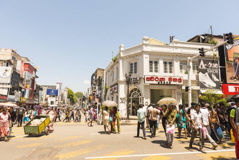 Straatbeeld in Kandy