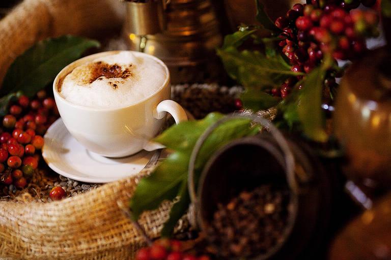 Koffie in Arusha Coffee Lodge
