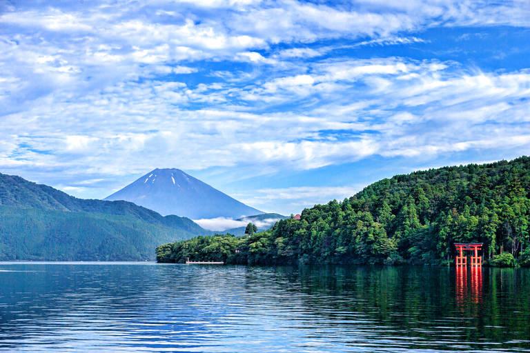 Lake Ashi met Mount Fuji op de achtergrond