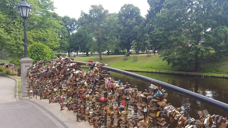 Slotjesbrug in Riga