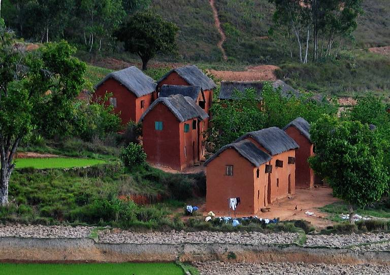 Lokaal dorpje in Madagascar