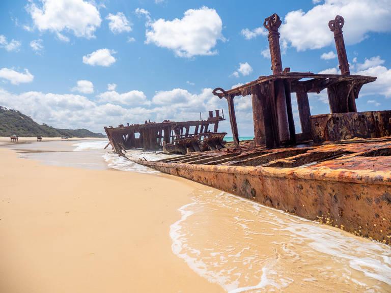 Scheepswrak, Fraser Island