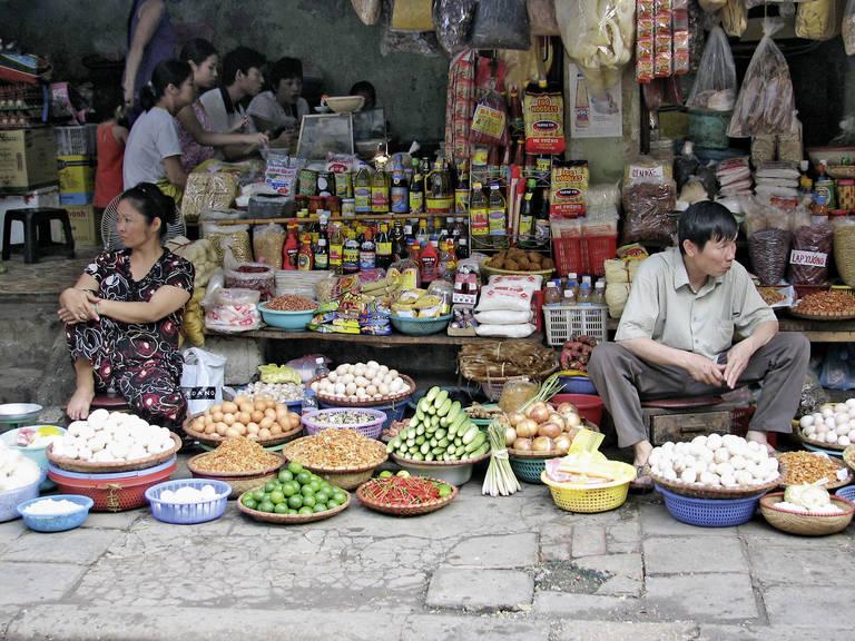 Lokale markt in Hanoi