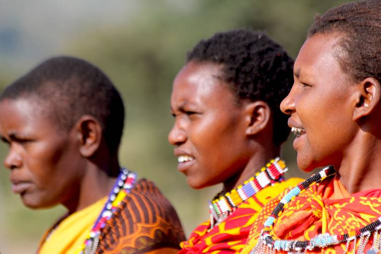 Masai vrouwen bij Masai Mara National Park