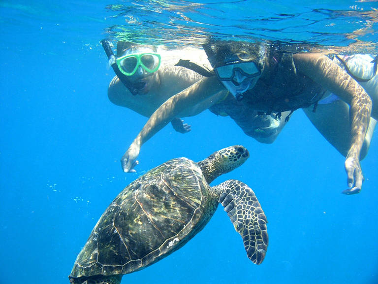 Snorkelen bij Kauai, Hawaii