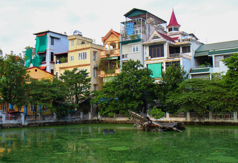 Neergestorte bommenwerper in Hanoi