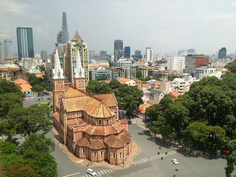 De Notre Dame basiliek in Ho Chi Minh Stad