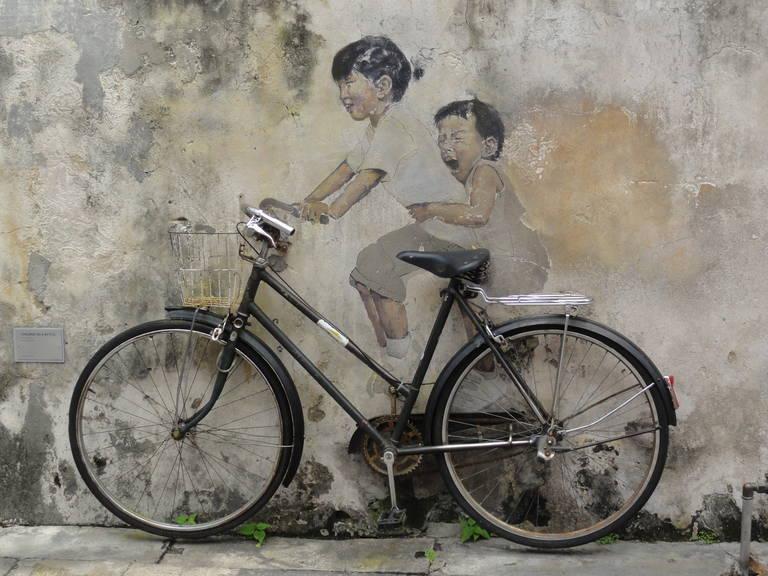 Straatkunst in Penang