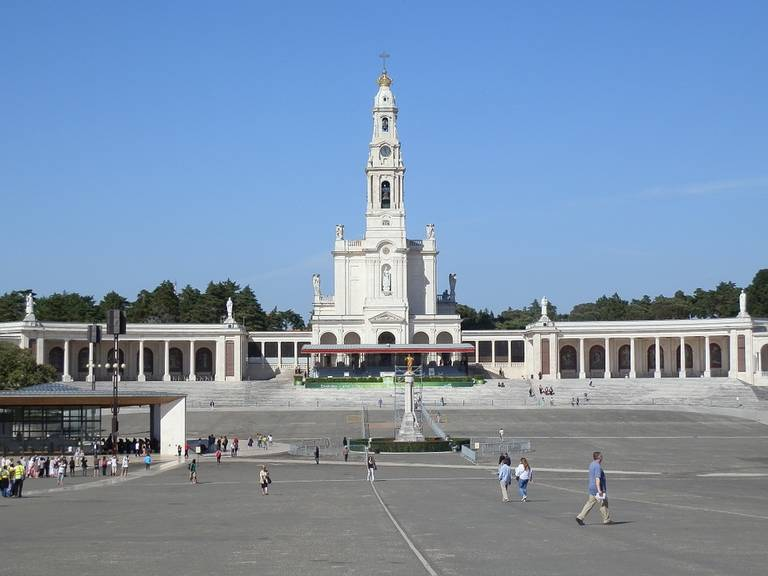 Heilige plein in Fatima