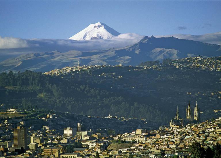 Uitzicht op Quito