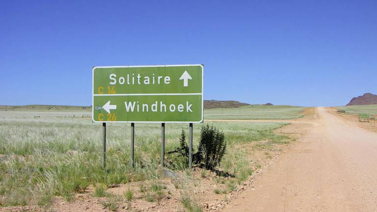 Route naar Windhoek