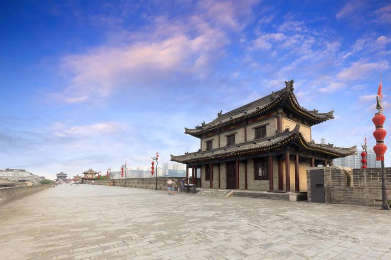 Op de stadsmuur in Xi'an