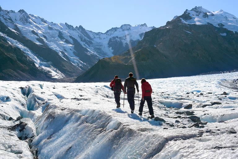 Hiken op de Mount Cook gletsjer
