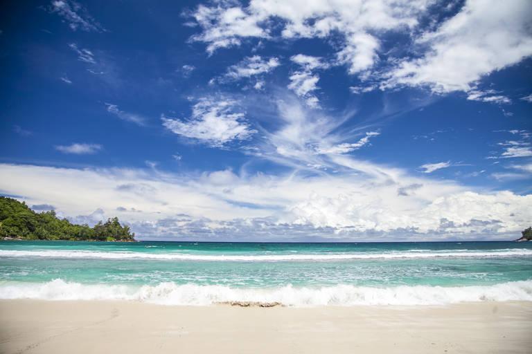 Strand bij Mahe