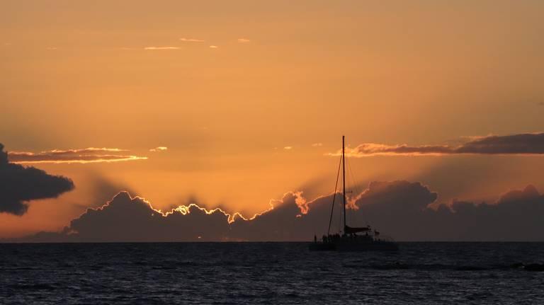 Zonsondergang Big Island, Hawaii