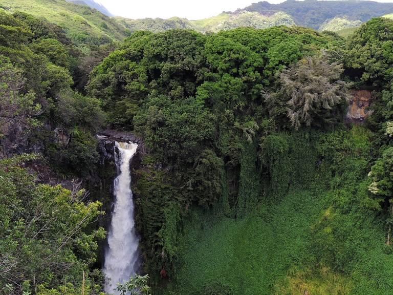 Waterval op Big Island, Hawaii