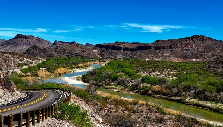 Rio Grande rivier in Big Bend Nationaal Park