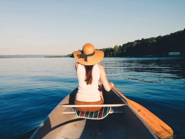 Kanoën op Cayuga Lake, Finger Lakes