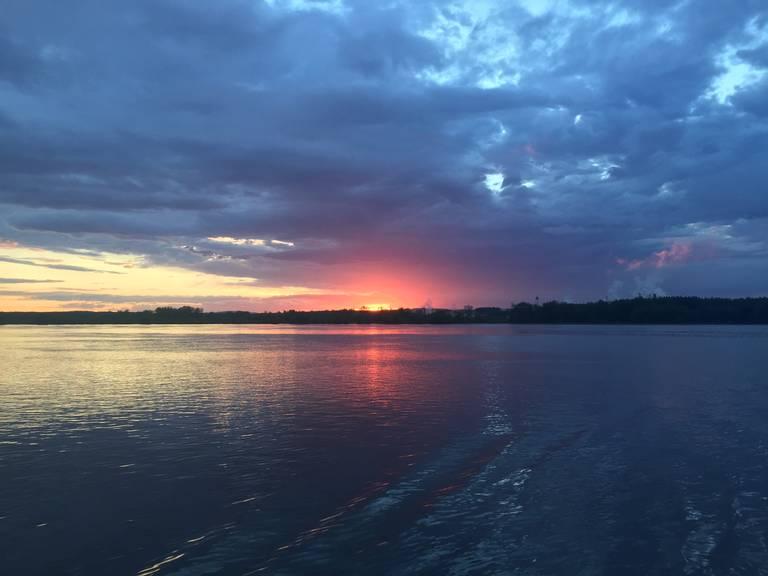 Zonsondergang bij Lake Ontario