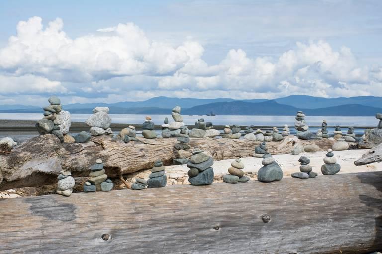 Strand bij Parksville, Vancouver Island