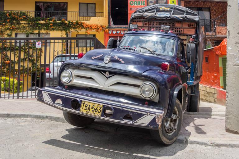Vrachtauto in Medellín