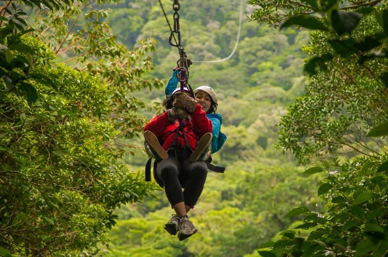 Canopy fun in Monteverde Cloud Forest