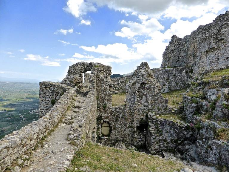 Oud fort in Mystras