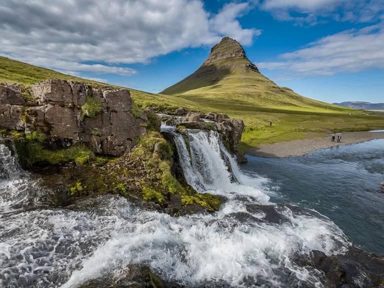IJsland, Kirkjufell waterval