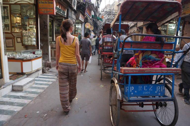 Straatleven in Delhi