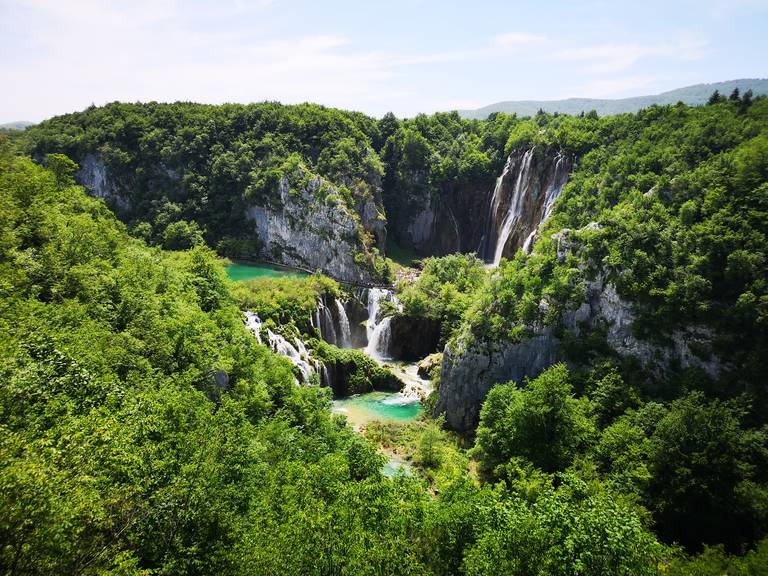 De watervallen van Plitvice National Park