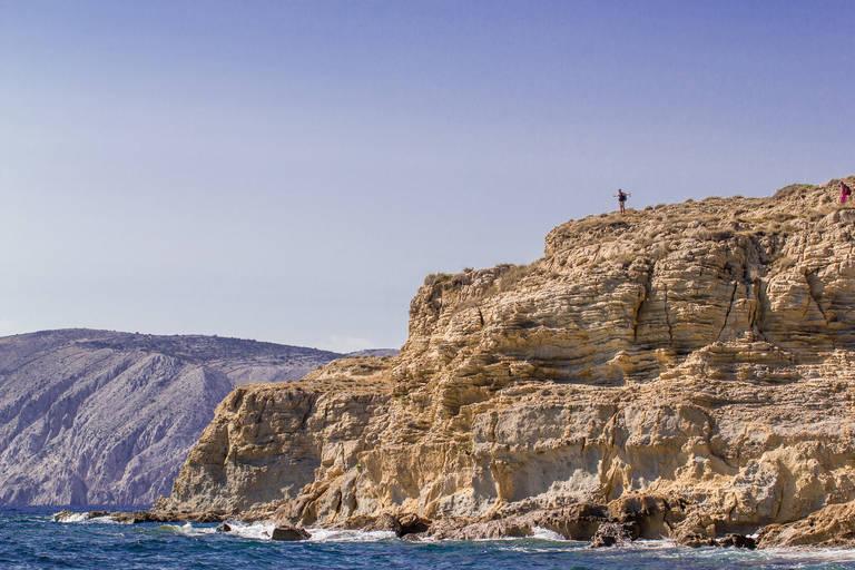 Een klif op Rab Island