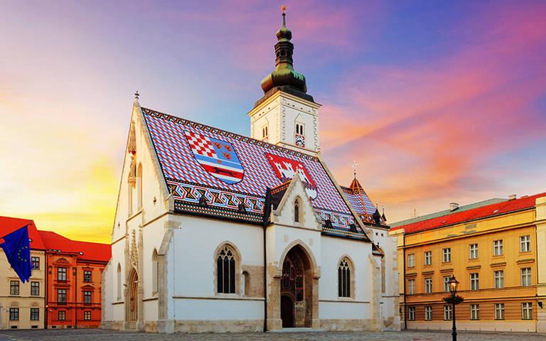 De Saint Marks kerk in Zagreb