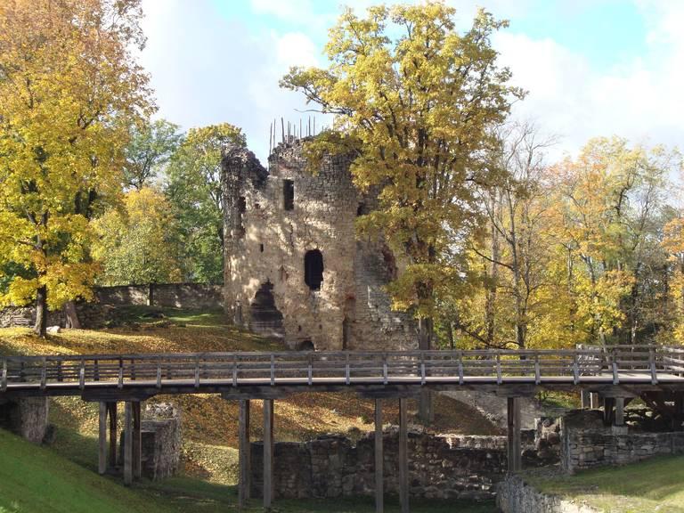 Ruïne van Gauja Nationaal Park