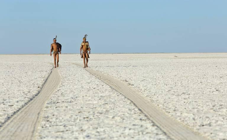Lokale bevolking in Makgadikgadi Pans