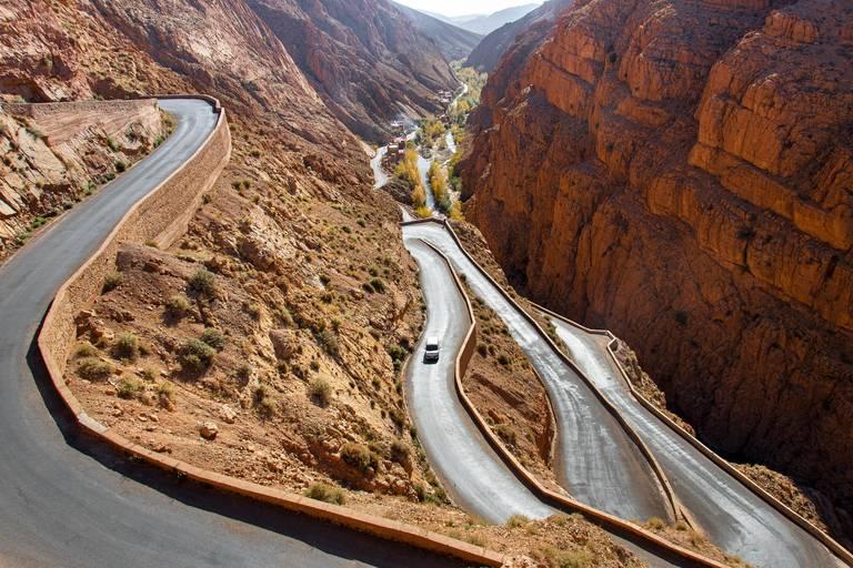 Autoweg in Dades Vallei