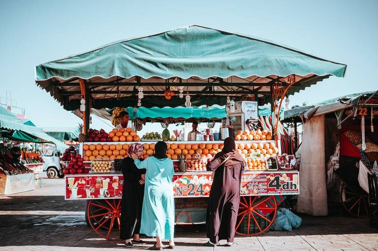 Marktkraam in Marrakech