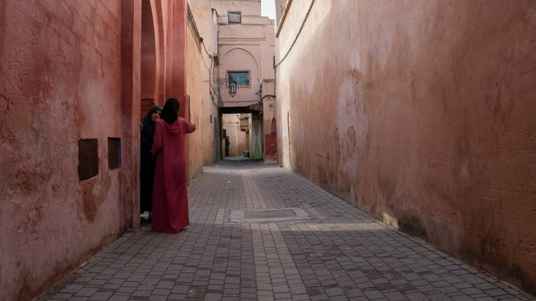 Straatbeeld van Meknes