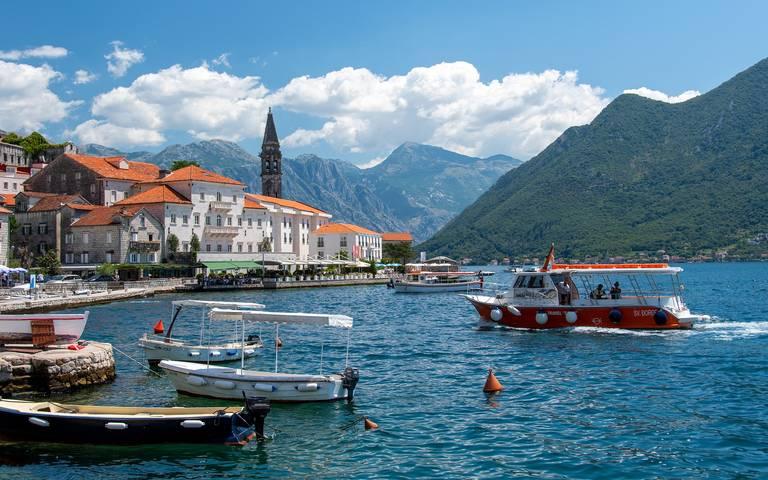 Baai van Lake Kotor