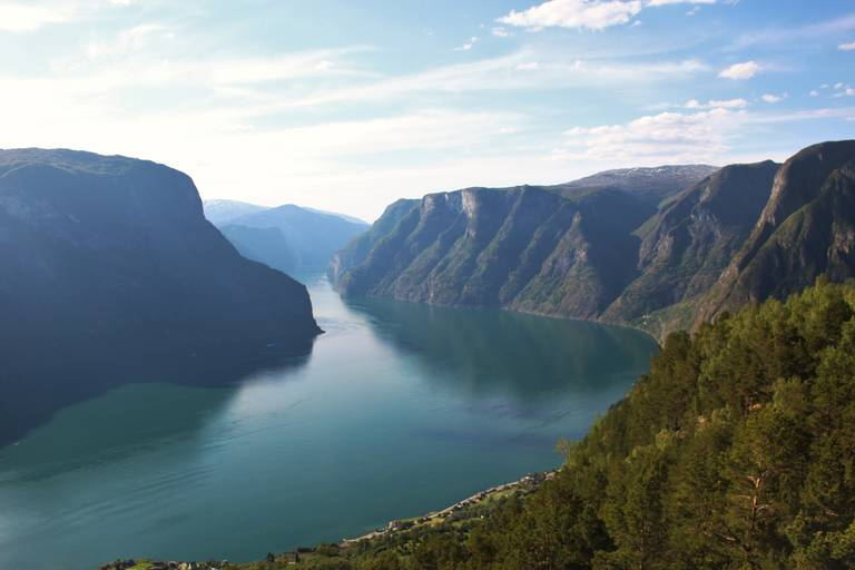 Uitzicht fjord in Flam