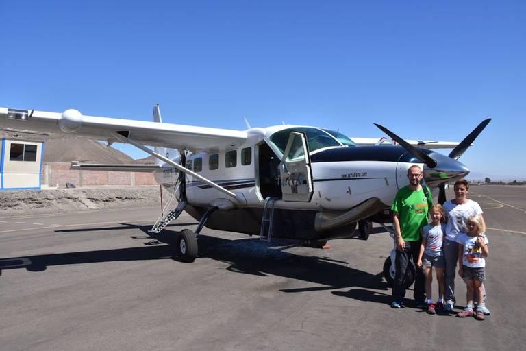 Per vliegtuig naar Nazca