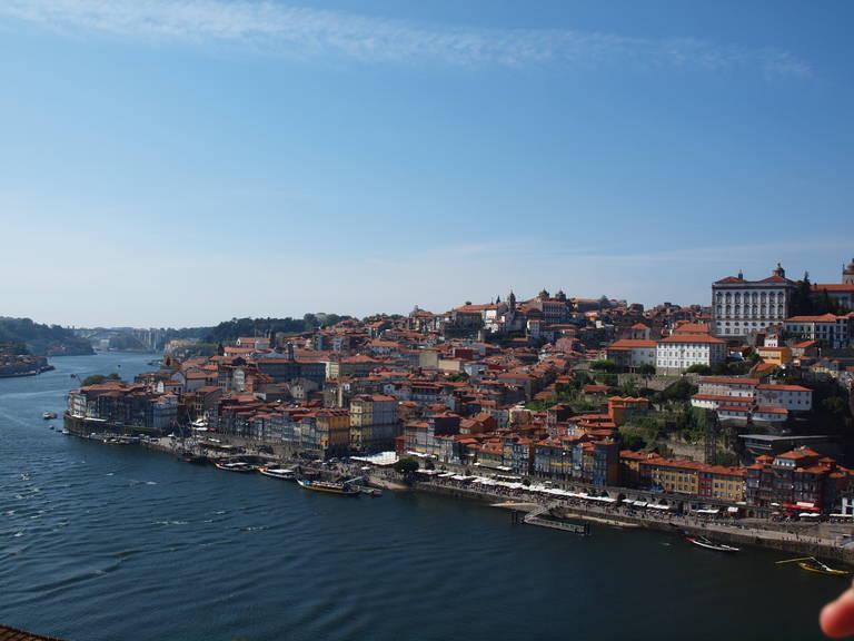 Uitzicht op Porto