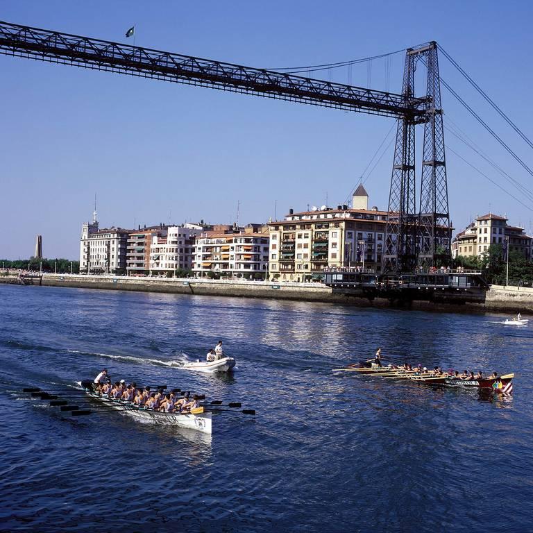 Getxo brug in Bilbao