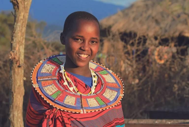 Masai vrouw in Olpopongi Cultural Village