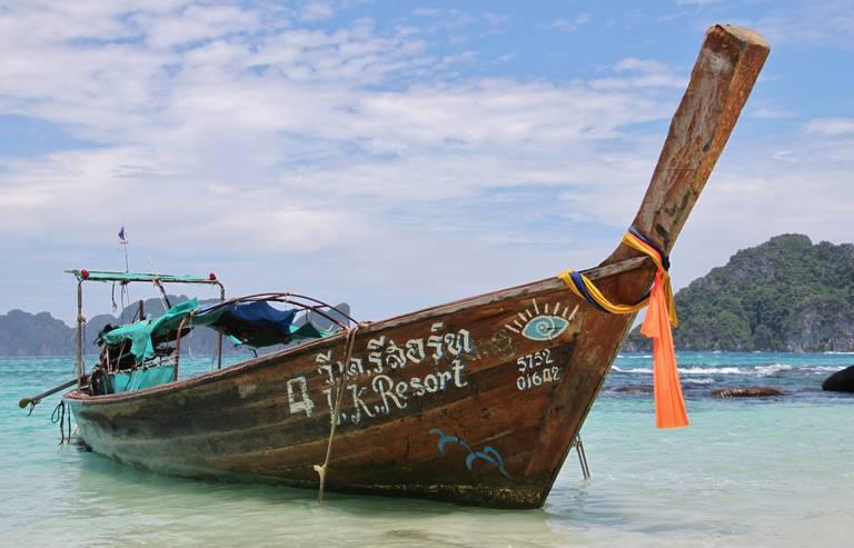 Typische boot op Krabi