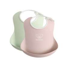 BabyBjörn μαλακή σαλιάρα 2-pack Powder - pink/green 046343