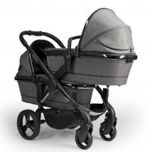 iCandy Peach Twin 2020 παιδικό καρότσι διδύμων - Phantom Grey Twill