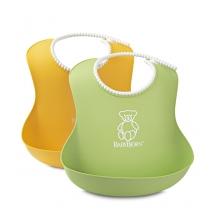 BabyBjörn μαλακή σαλιάρα 2-pack - Κίτρινο / πράσινο