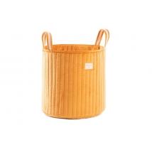 Nobodinoz καλάθι για τα παιχνίδια Savannah Velvet - Farniente Yellow NB113302