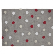 Lorena Canals παιδικό χαλί Dots - Topos tricolor red C-TT-3